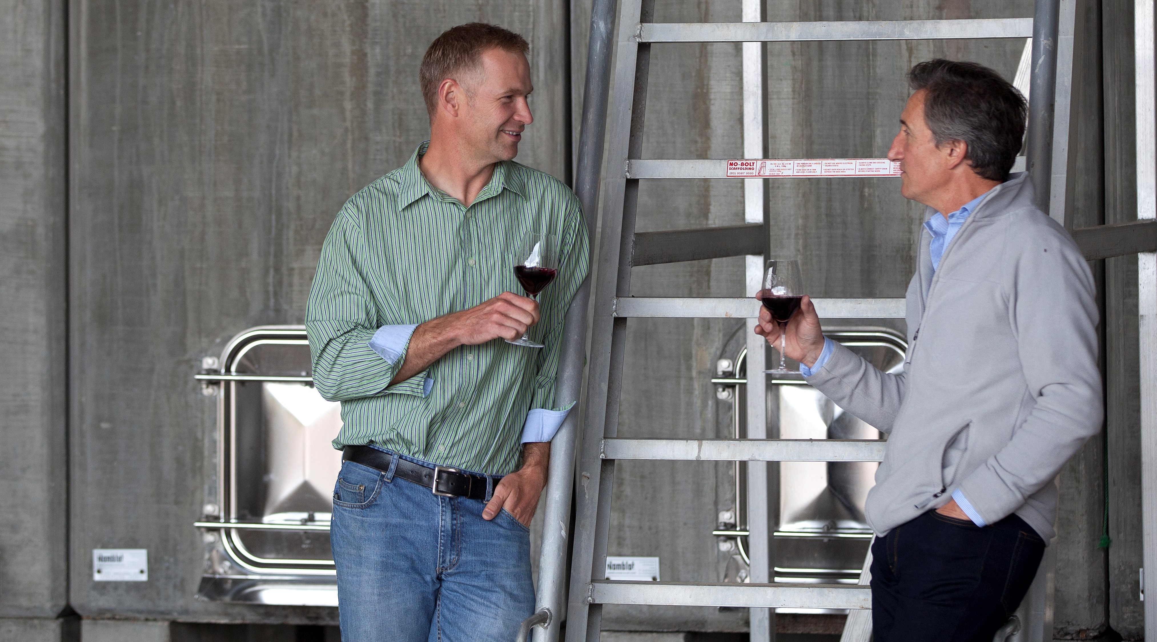 Jacques Lurton and Yale Norris at The Islander Estate Vineyards